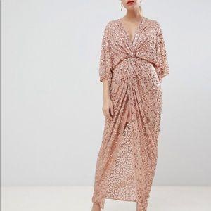 ASOS Petite scatter sequin kimono maxi dress